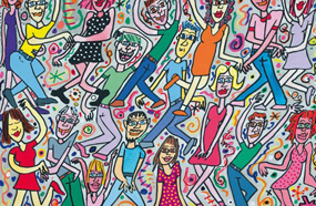 art box berlin - James Rizzi: Dancing on the streets (Unikat)