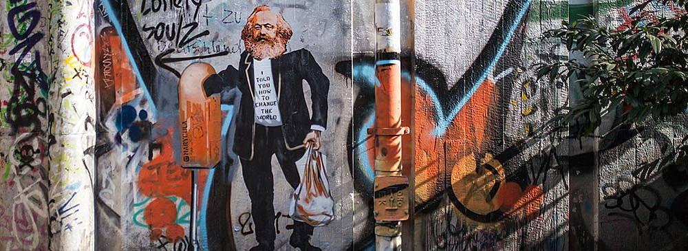 Berlin Umgebung Graffiti nahe Hotel Augustinenhof