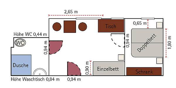 Hotelzimmer Rollstuhlgerecht Berlin Mitte Hotel Augustinenhof