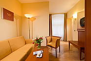 Living area of a double room at Hotel Augustinenhof